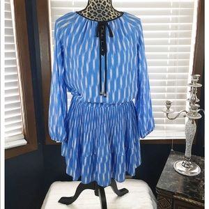 Michael Kors Blue Peasant Mini Dress Small
